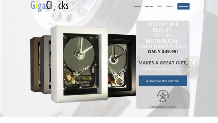GigaClocks - Alabama Website Design in Birmingham Alabama
