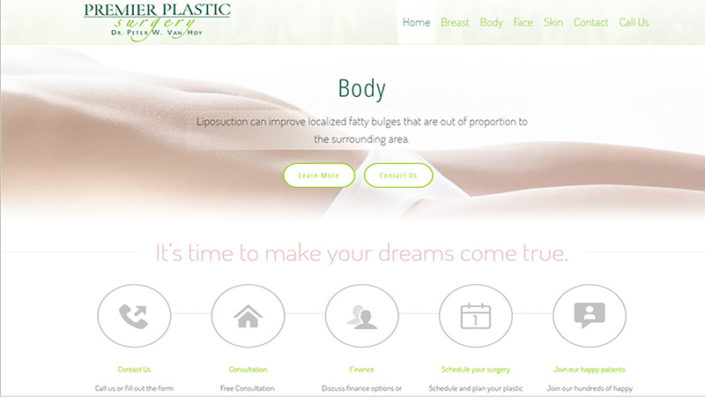 Premier Surgery - Alabama Website Design in Birmingham Alabama
