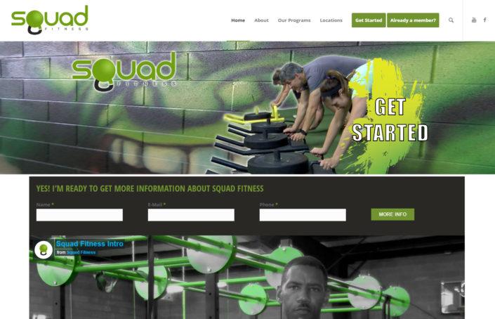 Squad Fitness - Alabama Website Design in Birmingham Alabama